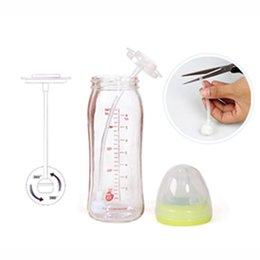 1 Set Baby Bottle palha para substituição da tubulação de sucção Escova Straw Straw Grande mamadeira Boca automático +