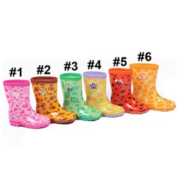 Wholesale candy color baby kids rain boots cute animal rainshoes children waterproof rainshoes galoshes for kids