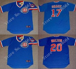 online shopping Cheap Chicago Cubs MARK GRACE ANDRE DAWSON RYNE SANDBERG JEROME WALTON Home throwback Baseball Jersey stitched S XL