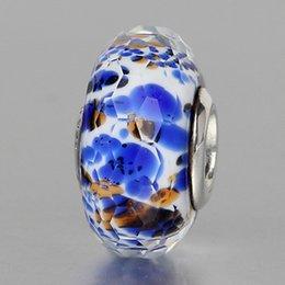 Wholesale 5PCS sterling silver Murano Glass Pandora style beads fit Bracelet or Necklace DM0032