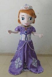 Wholesale bestdress Princess Sofia Mascot Costume Adult Sofia The First Mascot Costume