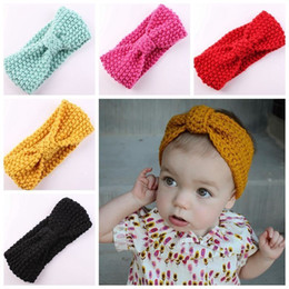 Wholesale Mix Turban Ear Winter Warm Headband Crochet Knitted sweater Hairband Headwrap Hair Band Accessories for Baby Girl Infant Kid Toddler BA478