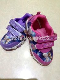 Wholesale new design Sports Casual Shoes frozen anna and elsa shoes sneakers sport shoes shoes purple pink pairs