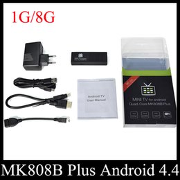 2017 full hd android MK808B Plus Amlogic M805 Quad Core Android TV Box Mini TV Dongle 1G 8G H.265 Hardware Decode Bluetooth DLNA Miracast OTH114 cheap full hd android