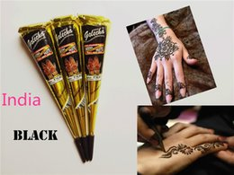 Wholesale Hot Sale New Black Indian Henna Tattoo Paste Tube Cone Body Art Temporary g Draw On Body By Yourself