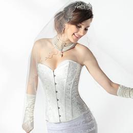 Vestidos de novia de alta calidad nupcial accesorios corsé blanco Buckrem para la boda / eventos US2-US20W