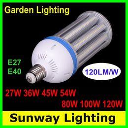 Lumière de rue LED E27 E39 E40 Lumières d'ampoule de maïs de LED 27W 36W 45W 54W 80W 100W 120W Entrepôt de route Lampes d'éclairage de jardin