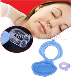 Wholesale 1PC Hot Sell Anti Snoring Silicon Free Nose Clip Snore Stop Stopper Device Health Sleep Anti Snoring Free Ship