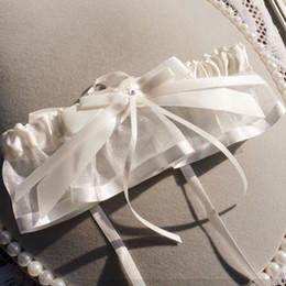 Wholesale Lace Bridal Garters White Cheap Sexy Polyester Blends Ribbon Wedding Leg Garters Bridal Accessories BG002