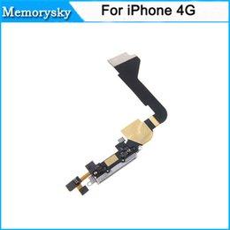 Cargador de alta calidad Carga reemplazo Muelle Puerto Conector Cable Flex Data para el iPhone 4 4G con el color Blanco Negro nave DHL 111187C
