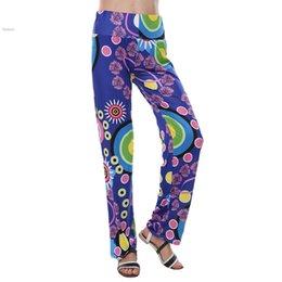 Wholesale Summer autumn Women Pants Casual High Waist Straight Leg Long Pant Palazzo Trousers Plus Size Floral Classic Exuma Pant Preppy