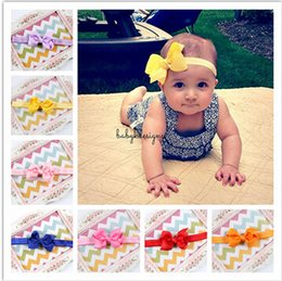 Wholesale 20 Color Infant Headbands Acccessories Headbands Chica Headwear Niños Bebé Fotografía Accesorios NewBorn Cute Bow Accesorios de pelo A1B58A