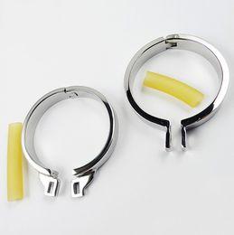 Solo anillos de pollo de acero inoxidable 5 tamaño puede elegir caber para los hombres dispositivo de castidad castidad cinturón sexo adulto sexo bdsm juguete metal fetiche anillo