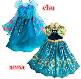 Wholesale 2015 Summer Girls Frozen Dresses Girls Elsa New Cartoon Dresses Anna dress Cinderella movie cosplay costumes baby girl priness dresses