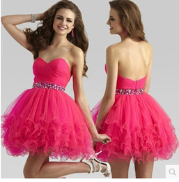 Wholesale Ruched Beaded Soft Tulle Homecoming Dress New Ball Gown Sweetheart Short Party Dress Custom Made