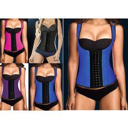 Wholesale Women Latex Rubbler Waist Training Cincher Body Shaper Colors Waist Training Belt Slimming Body Shaper Underbust Corset
