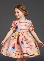 Wholesale 2015 Children s Dresses with Floral Kids Clothes Princess Dress Brand Fashion Children Party Dresses A Line Baby Girl Dress Age T T
