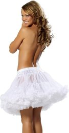 Wholesale 18 quot s Retro Underskirt Swing Vintage Mini Petticoat Skirt Elastic Waist Short Mini Tutu Rockabilly Slip Colorful On Sale Cheap