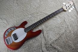 Левша Music Man Cherry Выброс Ernie Ball Sting Ray 4 Струнный электрическая бас-гитара Бесплатная доставка
