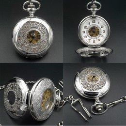 discount wind up watches for men 2017 wind up mechanical watches pocket watches for men vintage 17 crystals hand wind up mechanical movement pocket watch chain casual timepieces