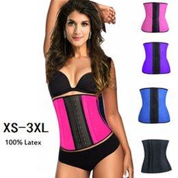 Wholesale XS XL Colors Women Latex Rubber Waist Training Cincher Waist Training Belt Kim Waist Training Belt Underbust Corset Body Shaper Shapewear