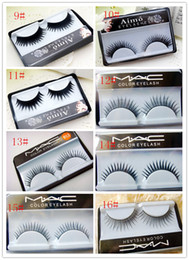 Wholesale False eyelash natural thick cross Eye end spin false eyelash