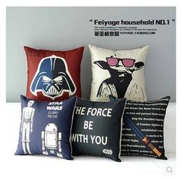 Wholesale 220 Designs European Throw Pillow Cases Star Wars Pillow Covers Cartoon Minions Cushion Covers Linen Valentines Pillow Case Cushion Cover