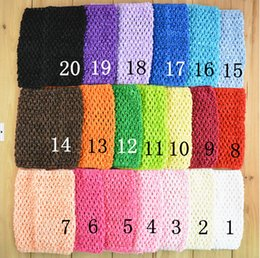 Wholesale 15 off New Arrival fashion cm X cm Baby Girl Inch Crochet Tops Chest Crochet headbands drop shipping