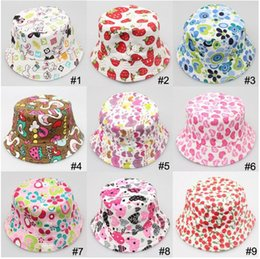 Wholesale 2015 childrens babys bucket hat Photography Hat child Kids Sun Hat Floral CapsTravel Necessity for2 ages Boys Girls Children