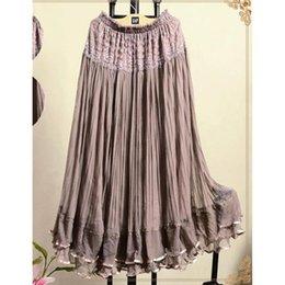 Wholesale 2015 Summer Lace Full skirted Ball Gown Net yarn Long Skirt Beach Female