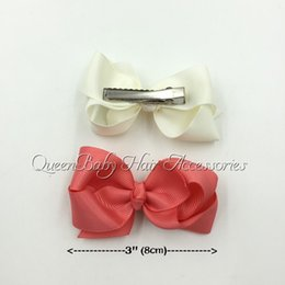 Wholesale Baby Hair Accessory quot Grosgrain Bows Ribbon Bow With Hair Clip Boutique Hair Bows Hairpins