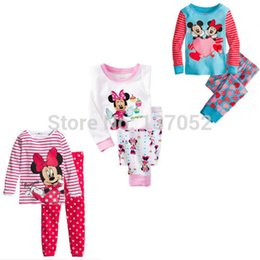 Wholesale Children boys girls kids Clothing Sets Minnie Mouse suits sleepwear long sleeve cartoon pajamas