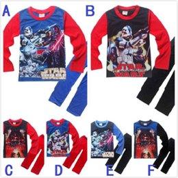 6 estilos 30sets para niños de star wars Peleles La ropa de dormir Fuerza vigilia Darth Vader