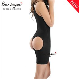 Wholesale 2015 New Clip and Zip Body Shaper Waist Slimming Mesh Butt Lift Shaper Front Zipper Full Bodysuit Shapewear