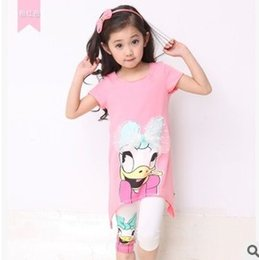 Wholesale 2015 Cartoon Clothing Set Korean Fashion Summer Kids Butterfly tshirts Tops Tights Shorts Big Girls Outfit Children Clothing DT003