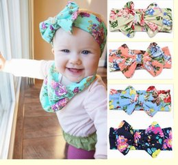 Wholesale baby flower headbands for girls kids boutique hair bows childrens floral hair accessories cotton elastic hairbands hair flowers headwraps
