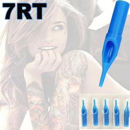 Wholesale 7RT Round Sterile Tattoo Tips Blue Disposable Tattoo Tips Round Liner Shader Tips For Professional Tattoo Artists