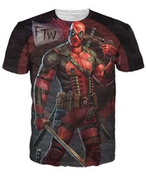 2017 live t shirts Foreign trade explosion of 2016 new marvel heroes Deadpool Deadpool small T-shirt short sleeved men live in spring affordable live t shirts
