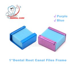Wholesale Dental Endo Files Square Frame with Sponge Endo Ruler Creative Endo Accessories Brand new Purple Blue