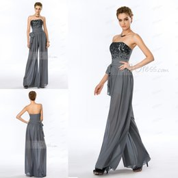 Wholesale 2015 Formal Evening Dresses Customizable Ladylike Strapless Sparking Sequins Bodice Jumpsuits High Qualiity Fashionable Women Winter Clothes