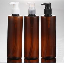 Wholesale 100PCS ML PET Lotion Pump Bottle Amber Plastic Cosmetic Container Empty Shampoo Sub bottling Essential Oil Bottle