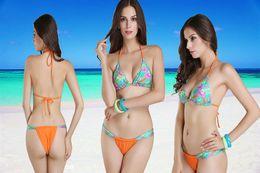 Wholesale Jungle print swimwear Green Bikini brand design Toggle Bottom secret bikini brazilian Strap push up Bikinis Set swimsuit