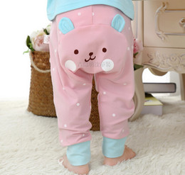 Wholesale 2015 Autumn Wear New Style Cartoon Modelling PP Pants For Infant All Cotton Comfortable Toddler Baby Casual Pants K512