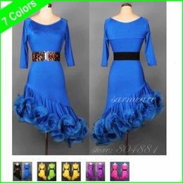 Wholesale 000170 Colors Quality Material New Fashion Women Latin Dacning Dress Girl Dance Dress Ballroom Dance Dress