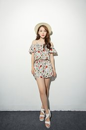 Wholesale 2015 summer dress yulan printing linen material condole belt latest brand fashion lady conjoined shorts