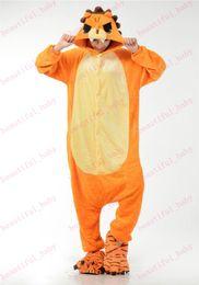 Wholesale New Arrival Lovely Flannel Orange Lion Onesie for Adult Unisex Anime Cartoon Hoodies onesie Cosplay Costumes Sleepware Pyjamas Jumpsuit