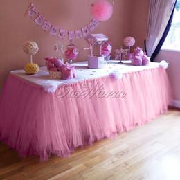 Beaucoup de couleur TUTU jupe de table Tulle vaisselle pour le décor de mariage Anniversaire fête de naissance pour créer un merveilleux pays des merveilles 100cm (L) * 80cm (H)