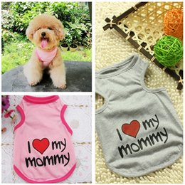 2017 wholesale shirts for summer 2015 Summer Pet Dog Shirt Clothes Cute Lovely Sweetheart Vest Shirts T Shirt Clothing for Dogs Cats Pet Products wholesale shirts for summer outlet