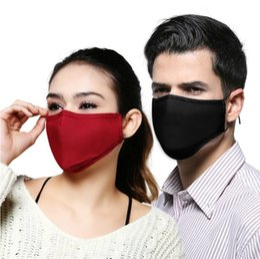 Wholesale PM2 Dustproof Adult Activated Carbon Cotton Solid Color Mask Fashion Lady Anti Haze Hanging Ear Type Masks