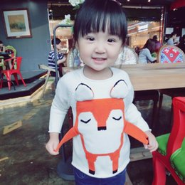 Wholesale Quality Autumn Lovely D Fox Sweater For Toddler Baby Pure Cotton Kids Girl Clothes Warm Wear Boys Casual